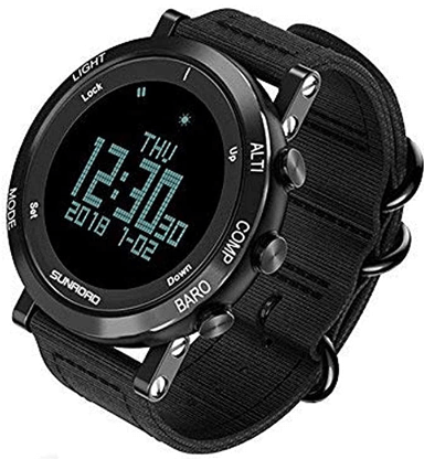 SUNROAD Men's Smart Digital Watch - Large Face ABC watch, LED Screen