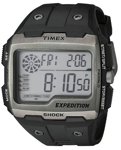 Best Hiking watch Timex Expedition Grid Shock Watch - Chronograph, Shock resistant
