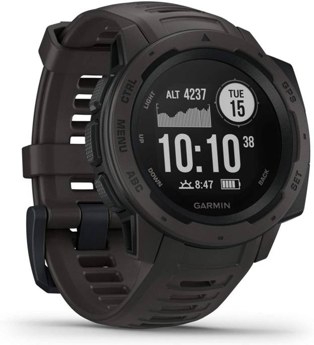 Top rated hiking watch Garmin Instinct