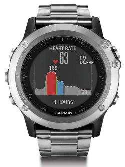 Garmin Fenix 3 HR Titanium Band Wrist Watch