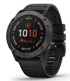Best garmin watch for hiking Garmin Fenix 6X Pro Solar – Multisport GPS watch with Accurate Triple Sensor